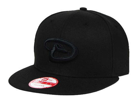 Arizona Diamondbacks Snapback New Era 9Fifty Black on Black Cap Hat