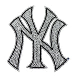 New York Yankees Decal XL Logo Black & White Auto Bling Rhinestone