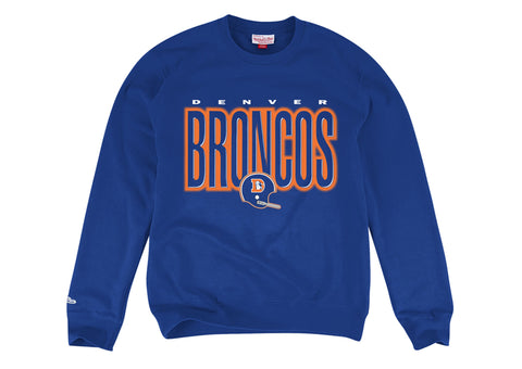 Denver Broncos Men's Mitchell & Ness Blur Crewneck Sweatshirt