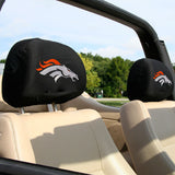 Denver Broncos Auto 2 Pack Headrest Covers