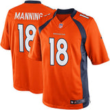 Denver Broncos Men's Peyton Manning #18 Nike Orange Team Color Limited Jersey