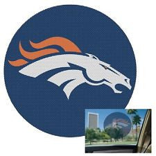 Denver Broncos Decal 8'' Perforated