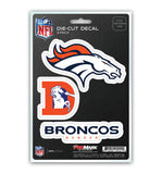 Denver Broncos 3-Pack Team Die-Cut Decal