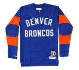Denver Broncos Men's Mitchell & Ness Field Goal Long Sleeve Shirt Blue