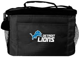Detroit Lions 6-Pack Cooler Lunch Bag Black