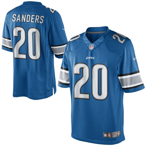 Detroit Lions Mens Nike Barry Sanders Light Blue Retired Player Limited Jersey