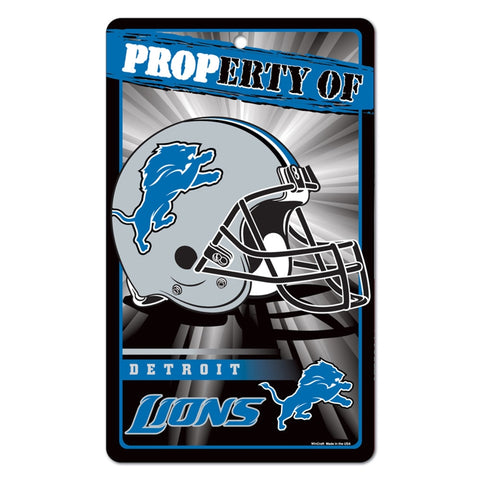 Detroit Lions Bar and Home Decor Property of Sign
