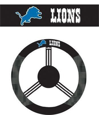 Detroit Lions Auto Suede Steering Wheel Cover