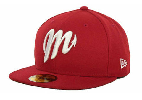 Diablos Rojos Del Mexico Fitted Mexican Baseball League New Era 59Fifty Red Hat Cap
