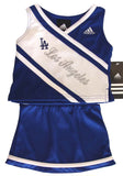 Los Angeles Dodgers Kids Girls Blue 2 Piece Cheer Set