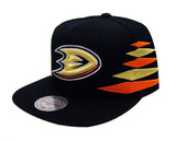 Anaheim Ducks Snapback Mitchell & Ness Solid Diamond Cap Hat Black
