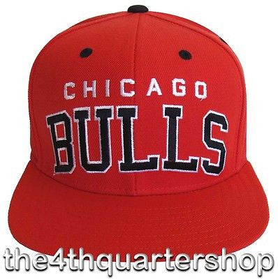 Chicago Bulls Snapback Adidas Retro Block Cap Hat All Red