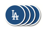 Los Angeles Dodgers 4 Piece Vinyl Coasters Set