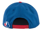 Montreal Expos Snapback American Needle Flynn Cap Hat Blue Red