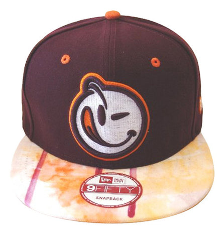 Yums Life Snapback New Era 9Fifty Face Cap Hat Burgundy Orange