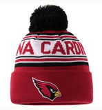 Arizona Cardinals Kids (4-7) Pom Cuff Embroidered Beanie Cap Burgundy