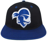 Seton Hall University Pirates Snapback Retro 2 Tone Logo Cap Hat Black Blue