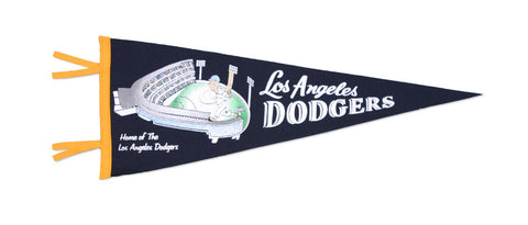 Los Angeles Dodgers Bar Home Decor Mitchell & Ness 1962 Dodgers Stadium Pennant