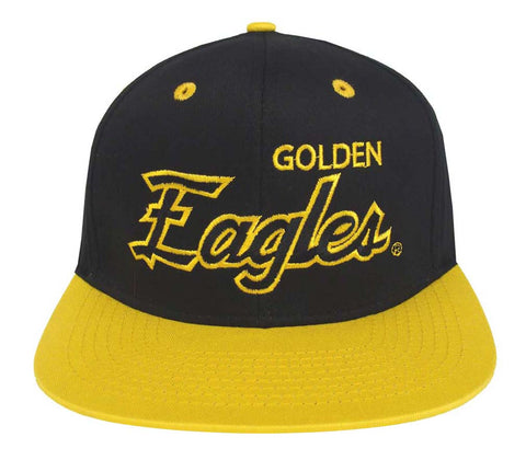 Southern Mississippi Golden Eagles Snapback Script Retro Cap Hat Black Yellow