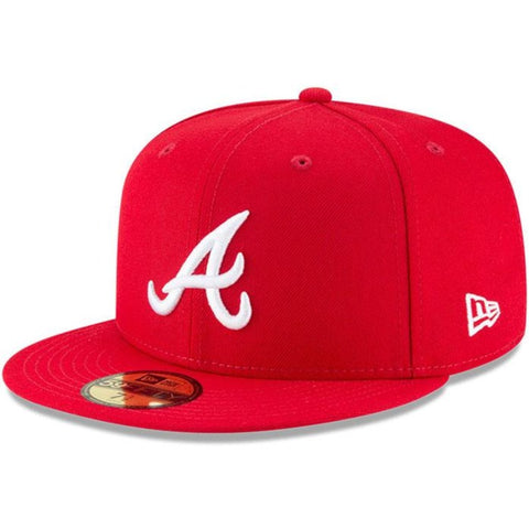 Atlanta Braves Fitted New Era 59FIFTY Red Cap Hat