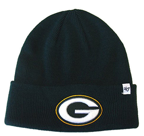 Green Bay Packers Beanie Embroidered 47 Ski Fold Green Knit Hat
