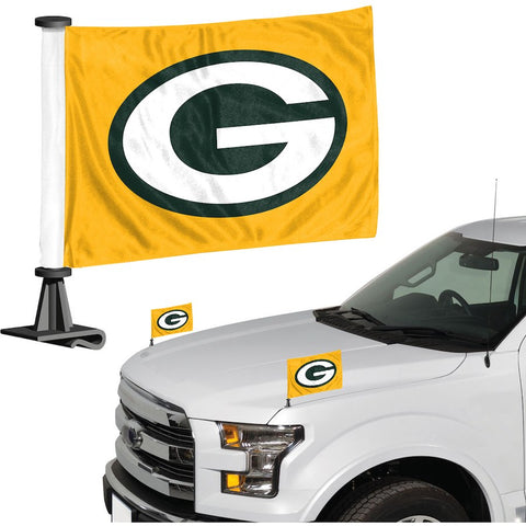 Green Bay Packers Auto Ambassador Flag Set
