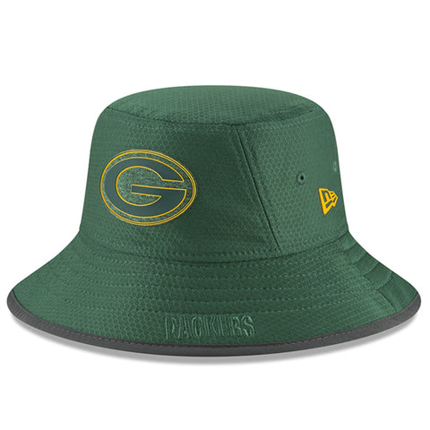 Green Bay Packers Bucket New Era 2018 Training Hat Green