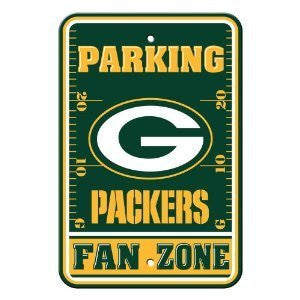 "Green Bay Packers Plastic 12""x18"" Team Fan Zone Parking Sign"