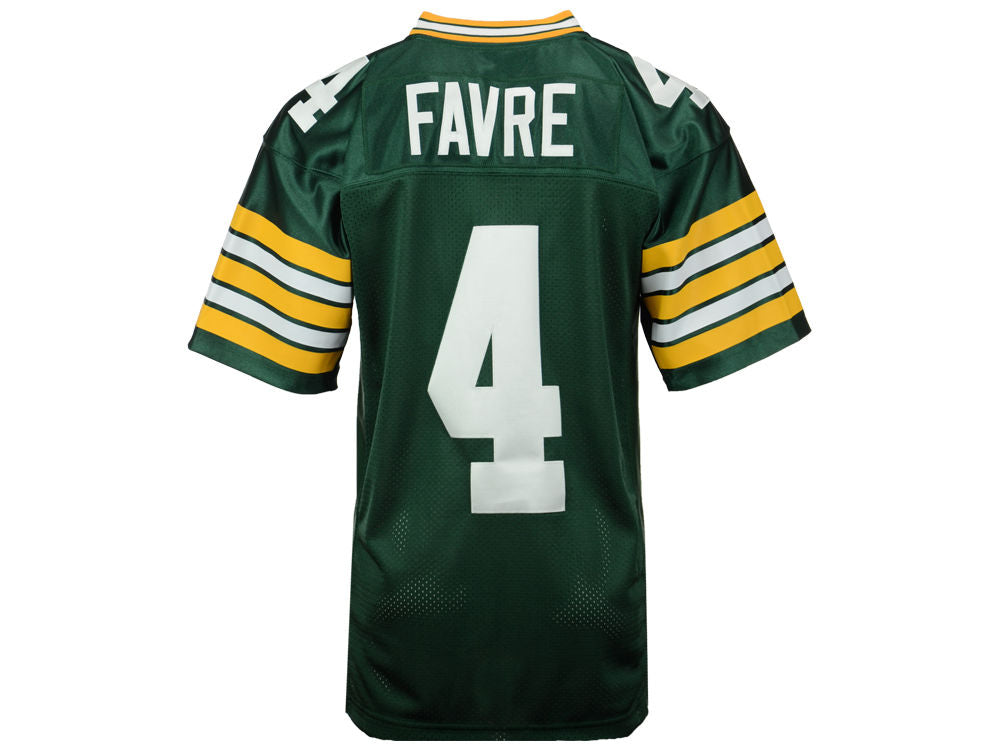 big sale a26b3 3aae2 Green Bay Packers Mens Mitchell & Ness #4 Favre Throwback Jersey Green