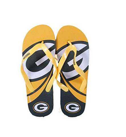 Green Bay Packers Men & Womens Big Logo Flip Flops