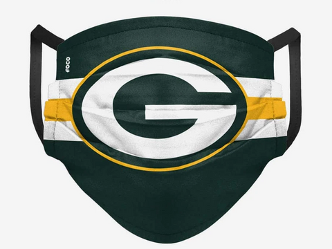 Green Bay Packers FOCO Pleated Face Cover Mask