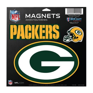 Greenbay Packers Vinyl Magnet 3 Piece