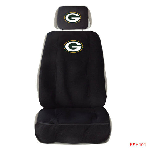 Green Bay Packers Front Seat Cover W/ Head Rest Cover Universal