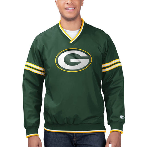 Green Day Packers Mens Jacket Starter Gameday Trainer Pullover Sweatshirt