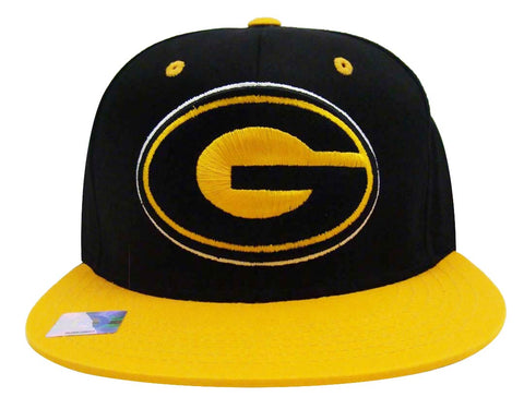 Grambling State Univerity Logo Retro Snapback Cap Hat Black Yellow