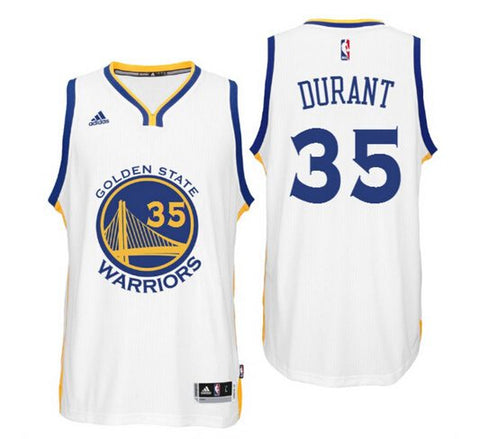Golden State Warriors Mens Jersey Adidas #35 Durant White