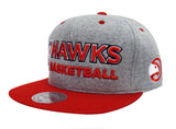 Atlanta Hawks Snapback Mitchell & Ness Heather Jersey Cap Grey Red