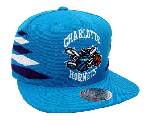 Charlotte Hornets Snapback Mitchell & Ness Solid Diamond Cap Hat Teal