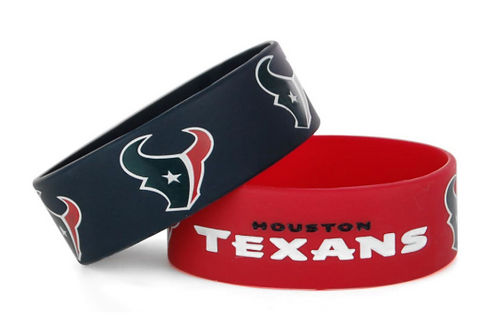 Houston Texans Bulk Bandz Wide Bracelet 2 Pack