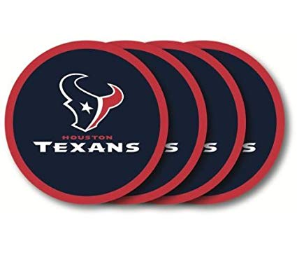 Houston Texans 4 Piece Vinyl Coasters Set