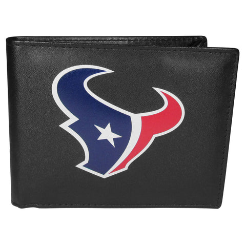 Houston Texans Mens Embroidered Leather Bi-fold Wallet