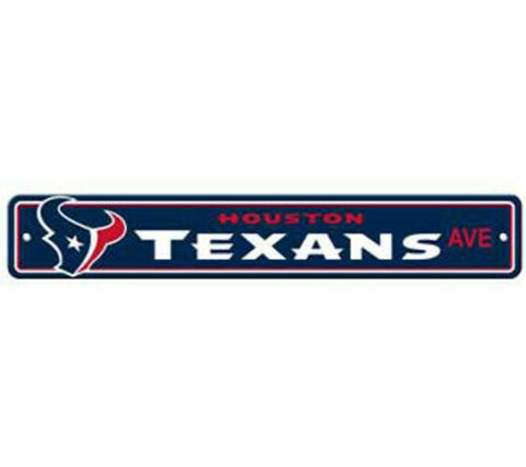 Houston Texans AVE Bar Home Decor Plastic Street Sign