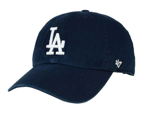 Los Angeles Dodgers Strapback '47 Brand Clean Up Adjustable Cap Hat Navy