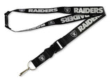 Oakland Raiders Badge Tickets Holder Keychain Lanyard Black