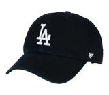 Los Angeles Dodgers Adjustable Strapback '47 Brand Clean Up Cap Hat Black