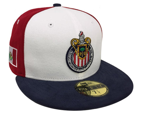 Chivas de Guadalajara Fitted New Era 59Fifty Cord Cap Hat Tri Colored