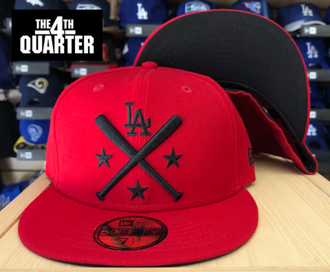 Los Angeles Dodgers Fitted New Era 59Fifty All-Star Workout Red Cap Hat