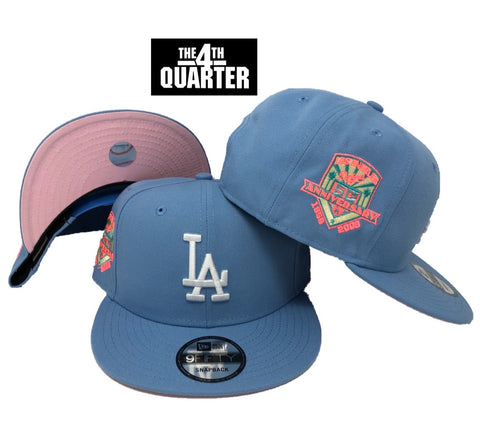 Dodgers Snapback New Era 9FIFTY 50th Anniv. Sky Hat Cap PINK UV