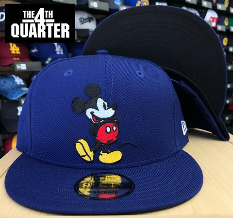 Mickey Mouse Disney New Era 9Fifty Snapback Hat Cap Blue