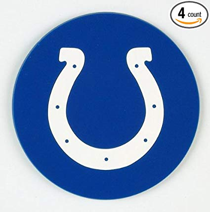 Indianapolis Colts 4 Piece Vinyl Coasters Set
